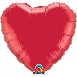Globo Foil Corazon Rojo Rubi 36''