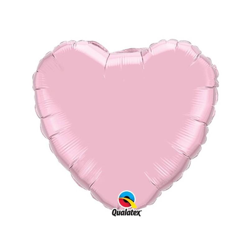 Globo Foil Corazon Rosa Perla 18''