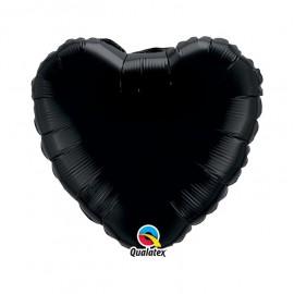 Globo Foil Corazon Negro Onyx 18''