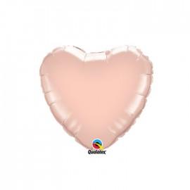 Globo Foil Corazon Oro Rosa 9''