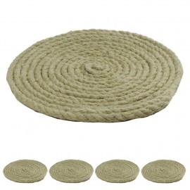 Posavasos Cuerda Cañamo 5mm (6 ud)