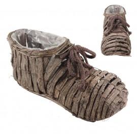 Macetero Zapato Mimbre ↔27cm