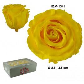 Mini Rosa Ø 3,5 cm Amarillo Claro (12 uds)