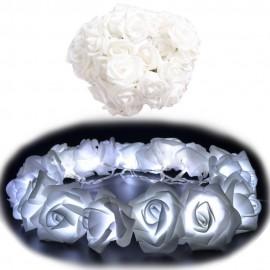 Led 10 luces Rosas Blancas