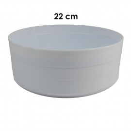 Centro Redondo Blanco 22cm (G22)