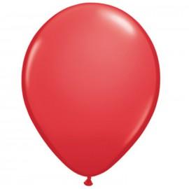 11'' Globo Latex Rojo 100ud Liso