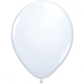 11'' Globo Latex Blanco 100ud Liso