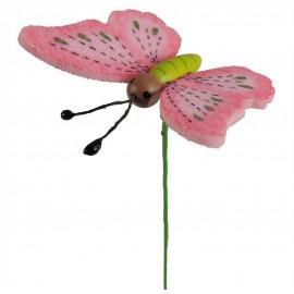 Pick Mariposa Foam Rosa (12 uds)
