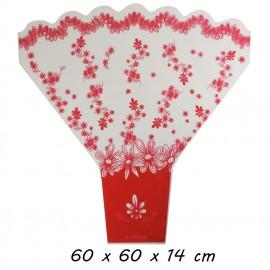 Bouquet Melody Rojo 60x60x14 cm