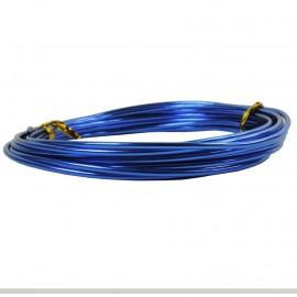 Alambre Aluminio Redondo 1mm Azul