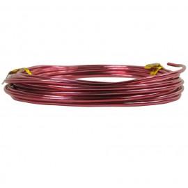 Alambre Aluminio Redondo 1mm Rosa Oro