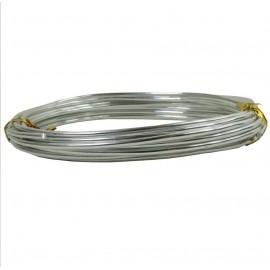 Alambre Aluminio Redondo 1mm Plata