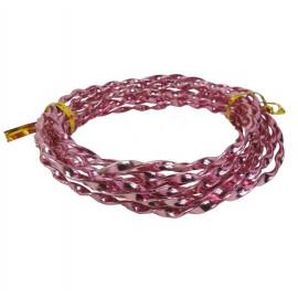 Alambre Aluminio Espiral 5mm Rosa