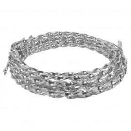 Alambre Aluminio Espiral 5mm Plata