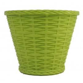 Cubre Imitacion Mimbre 18 cm Verde Claro