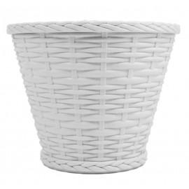 Cubremaceta 18 cm Blanco