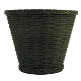 Cubremaceta 18 cm Verde Oscuro