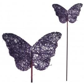 Pick Mariposa Sisal Morado (5ud)