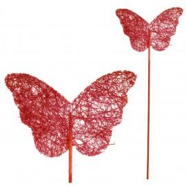 Pick Mariposa Sisal Rojo (5ud)
