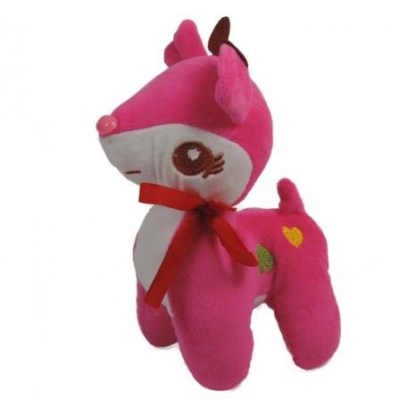 Ciervo Peluche 20 cm Rosa Fuerte