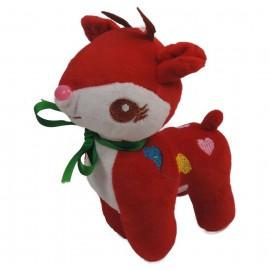 Ciervo Peluche 20 cm Rojo