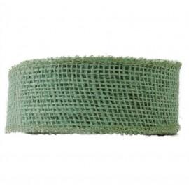 Yute Natural Rigido ↕5 x 15mt Verde Agua