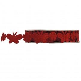 Cinta Poliester Mariposa Rojo 2 mt