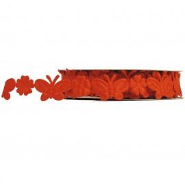 Cinta Poliester Mariposa Naranja 2 mt
