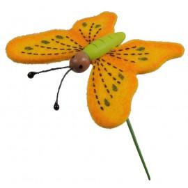 Pick Mariposa Foam Naranja (12 uds)