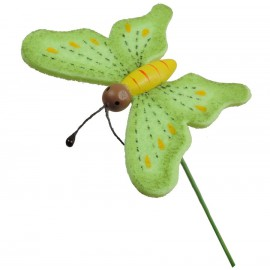 Pick Mariposa Foam Verde (12 uds)