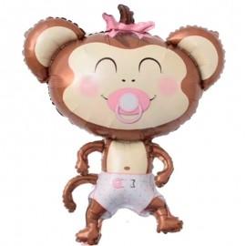 Foil Monito Bebe Rosa