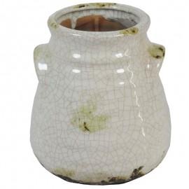 Jarron Ceramica Blanco ↕16cm