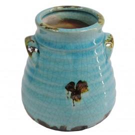 Jarron Ceramica Turquesa ↕16cm