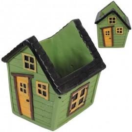 Casa Macetero Verde 20cm