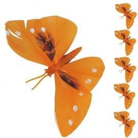 Mariposa Iman Naranja (6ud)