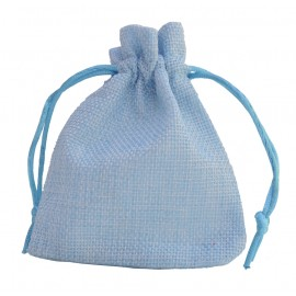 Bolsa Yute Celeste ↕12 x 9 cm